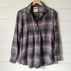 American Eagle Jegging Fit Plaid Flannel Tunic